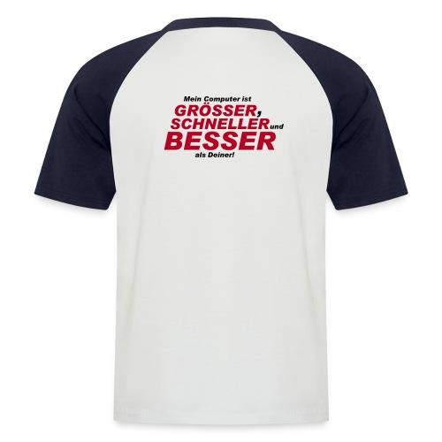 Computer Shirt - Männer Baseball-T-Shirt