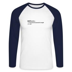 Go NERD dictionary-style - Men's Long Sleeve Baseball T-Shirt