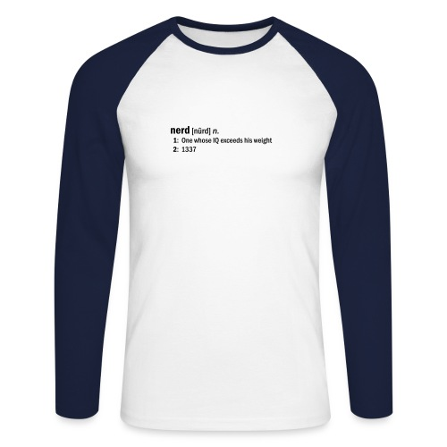 Go NERD dictionary-style - Men's Long Sleeve Baseball T-Shirt