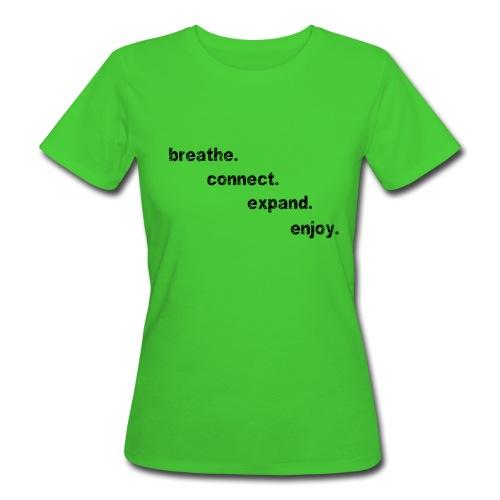 DCA Moving Meditation Girlie bio  - Druck schwarz - Frauen Bio-T-Shirt