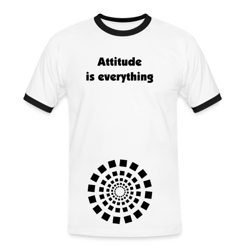 Attitude is everything - Männer Kontrast-T-Shirt