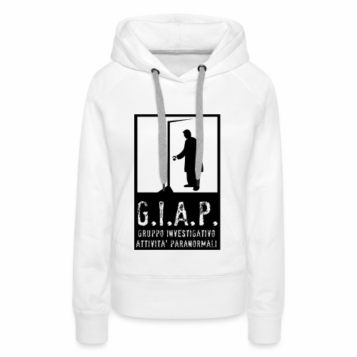 felpa donna GIAP front - Felpa con cappuccio premium da donna