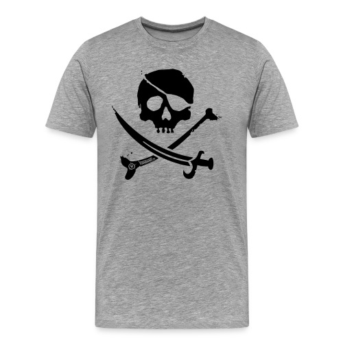 Pirate Crew - Men's Shirt (Black print) - Mannen Premium T-shirt