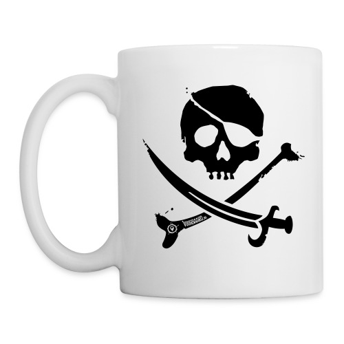 Pirate Crew - All-White Coffee Mug - Mok