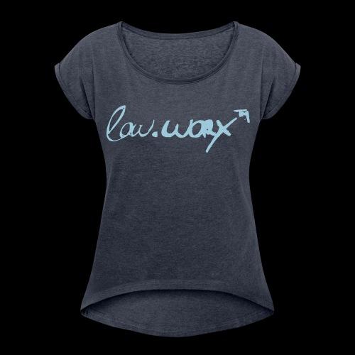 WomansTee - signature series - Frauen T-Shirt mit gerollten Ärmeln