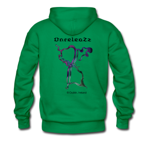 Men's Premium Hoodie - Triplag Music classic logo and UnreleaZz at the back with Registration Dublin Ireland