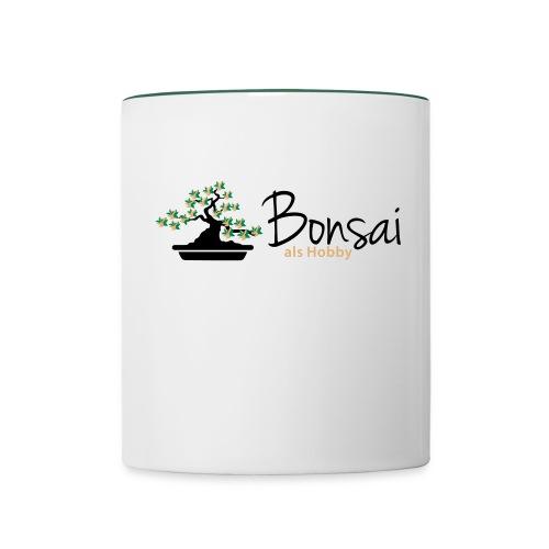 Tasse mit Bonsai Baum - Tasse zweifarbig