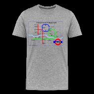 T-Shirts ~ Men's Premium T-Shirt ~ Hot Cold Ground Tube Map t-shirt