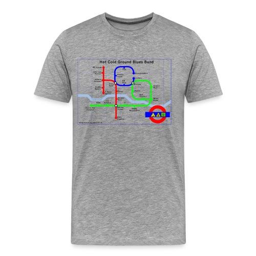 Hot Cold Ground Tube Map t-shirt - Men's Premium T-Shirt