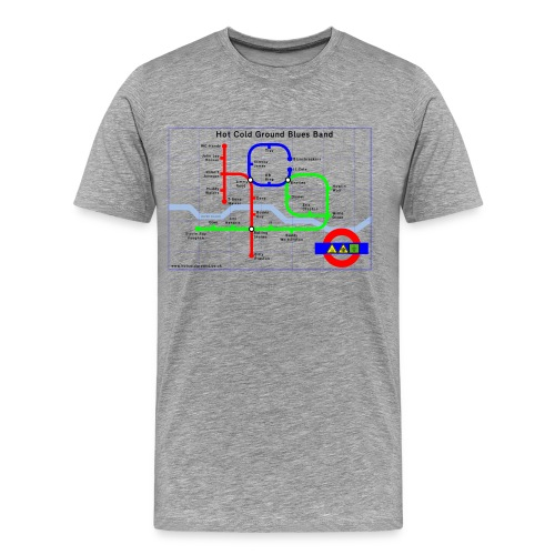 Hot Cold Ground Tube Map t-shirt - Men's Premium T-Shirt