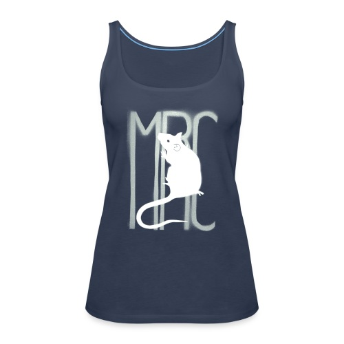 Ladies' sleeveless top with white MRC rat - Women's Premium Tank Top