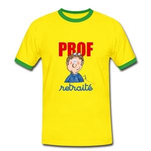 t shirt contraste - prof retraité - T-shirt contrasté Homme