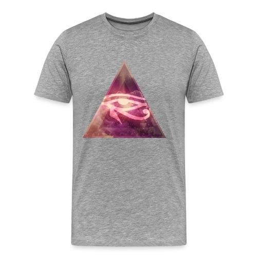 Triangle Eye of Horus - Mannen Premium T-shirt