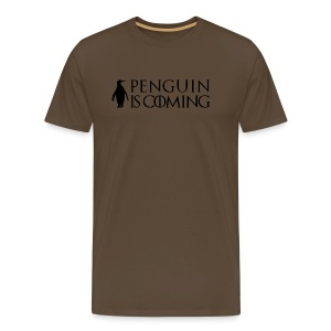 Penguin is coming - T-shirt Premium Homme