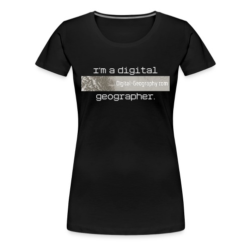 digital geographer fem - Women's Premium T-Shirt