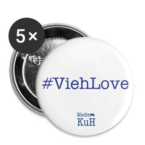 5 XL-KuH-Buttons #ViehLove - Buttons groß 56 mm