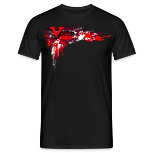 Vegan for Life - Splatter [red] - Männer T-Shirt