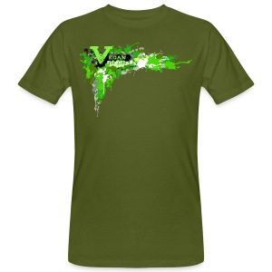 Vegan for Life - Splatter [green] - Männer Bio-T-Shirt