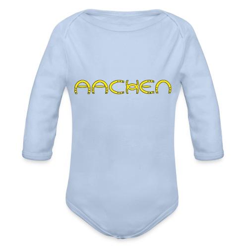 Aachen -Hufeisen - Baby Bio-Langarm-Body