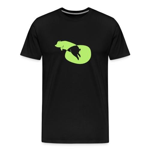 Schwein Vektor - Männer Premium T-Shirt