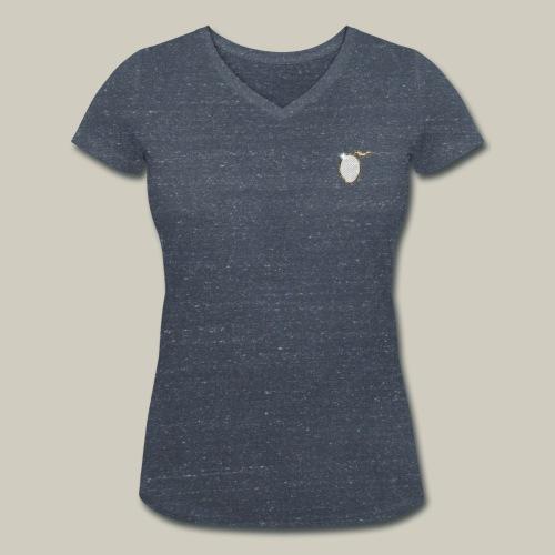 Frauen T-Shirt mit V-Ausschnitt und Glitzer-Mango - Frauen Bio-T-Shirt mit V-Ausschnitt von Stanley & Stella