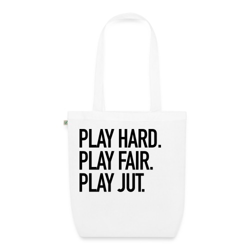 Play hard. Play.fair. Play jut. - Bio-Stoffbeutel
