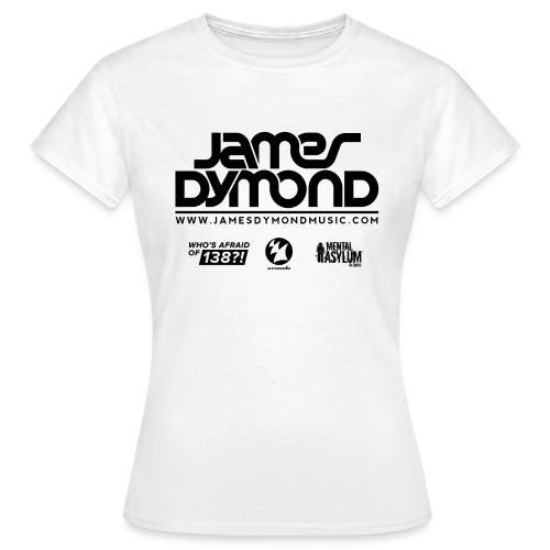 James Dymond Original Female T-Shirt (Black Logo) - Women's T-Shirt