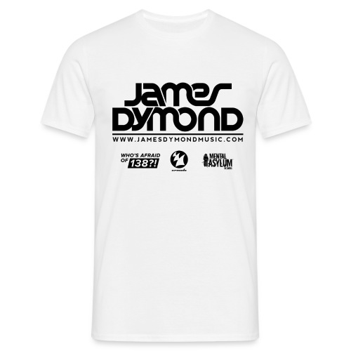 James Dymond Original Male T-Shirt (Black Logo) - Men's T-Shirt