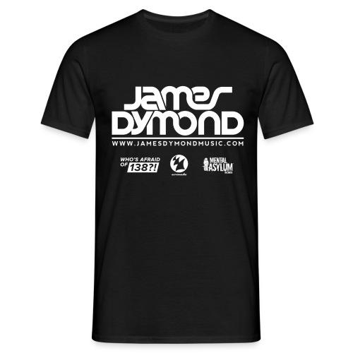 James Dymond Original Male T-Shirt (White Logo) - Men's T-Shirt