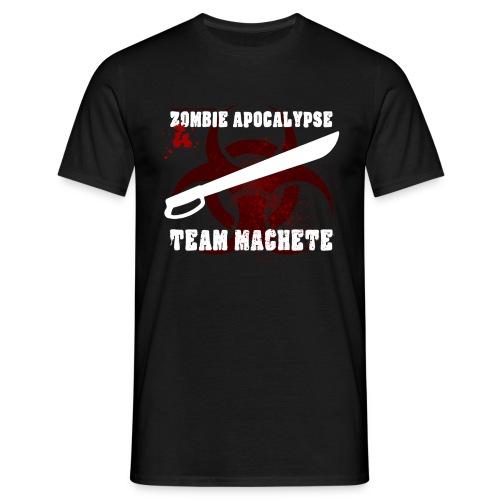 Zombie Apocalypse Team Machete - Männer T-Shirt