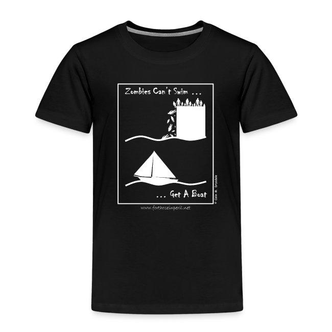 Children's T Shirt - Zombies Can't Swim