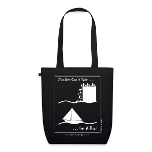 Tote Bag - Zombies Can't Swim - EarthPositive Tote Bag