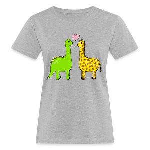 Dino+Giraffe=True T-shirt - Ekologisk T-shirt dam
