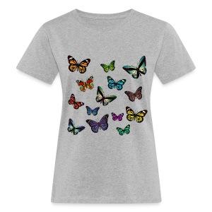 Butterflies T-shirt - Ekologisk T-shirt dam