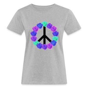 Floral Peace T-shirt - Ekologisk T-shirt dam
