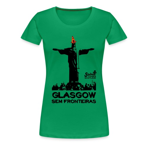 Brazil (Rio de Janeiro) BLACK  - Women's Premium T-Shirt