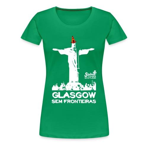 Brazil (Rio de Janeiro) WHITE  - Women's Premium T-Shirt
