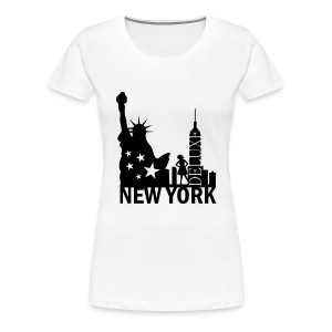New York Deluxe Skyline - Frauen Premium T-Shirt