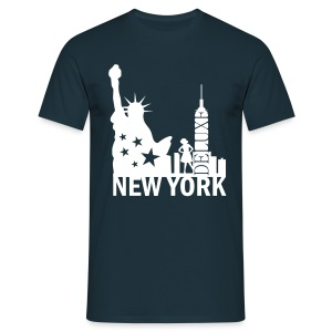 New York Deluxe Skyline - Männer T-Shirt