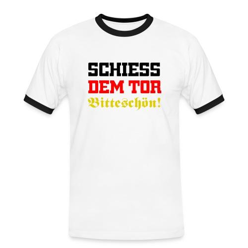 schiess_dem_tor_remastered - Männer Kontrast-T-Shirt