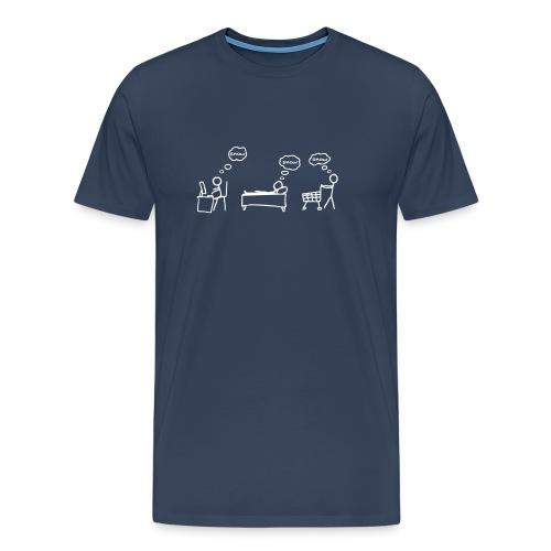 Dreamer  (Navy) - Men's Premium T-Shirt