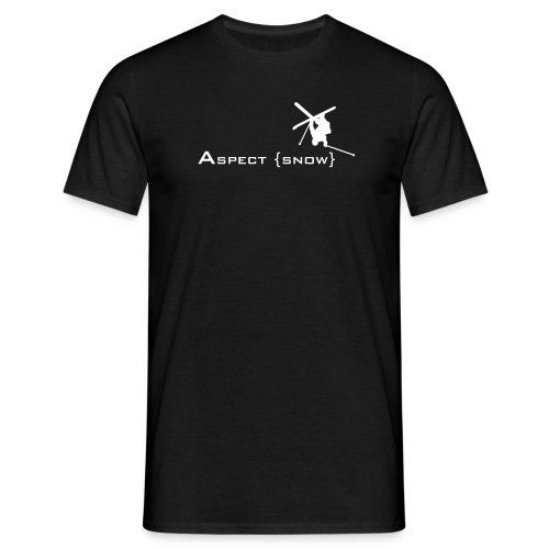 Aspect Ski  (Black) - Men's T-Shirt