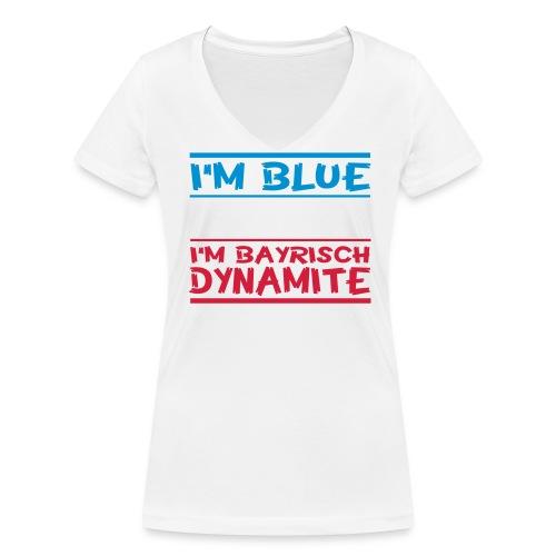 iám blue i´m wihte  - Frauen Bio-T-Shirt mit V-Ausschnitt von Stanley & Stella