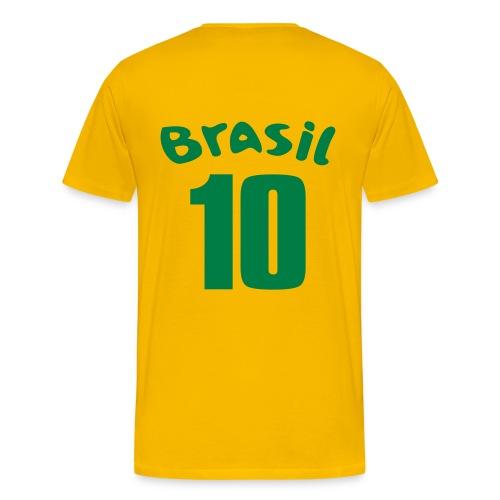 Men's Brazil T-shirt Number 10 - Men's Premium T-Shirt