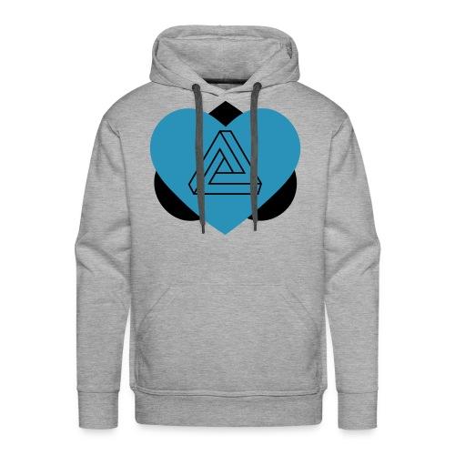 Heart-Illusion - Sweat-shirt à capuche Premium pour hommes