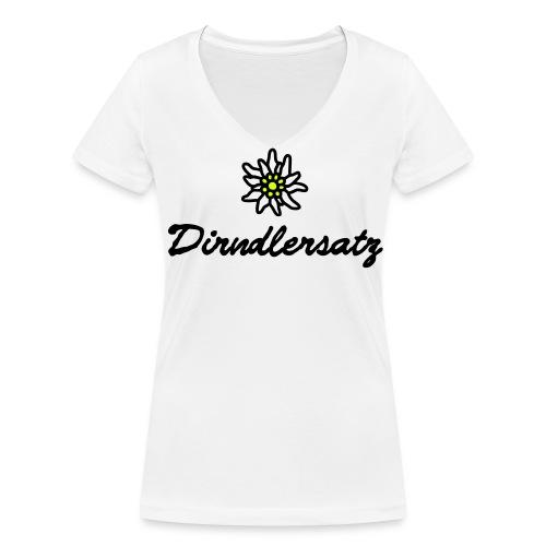 dirndl ersatz - Frauen Bio-T-Shirt mit V-Ausschnitt von Stanley & Stella