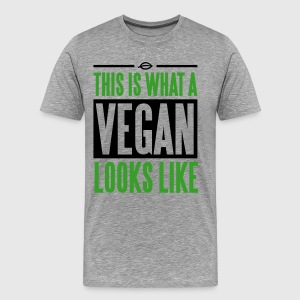 This is what a vegan looks like T-shirts - Herre premium T-shirt