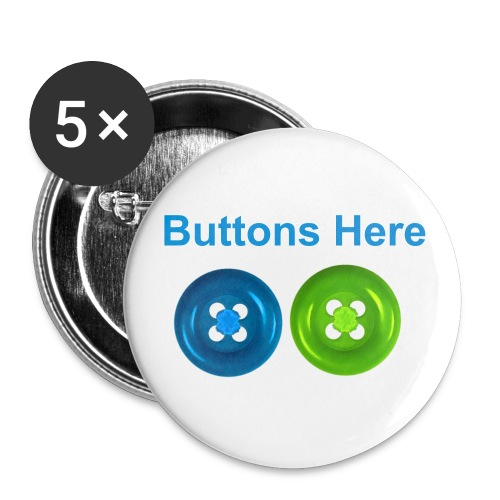 Buttons Pot - Buttons large 2.2''/56 mm(5-pack)