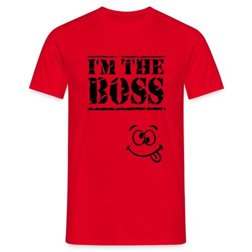 Mens humour funny t-shirt I'm the boss - Men's T-Shirt