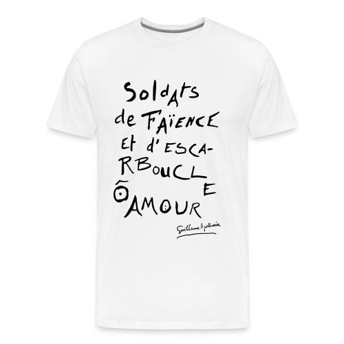 T-shirt Homme - Calligramme Soldat de faïence - T-shirt Premium Homme